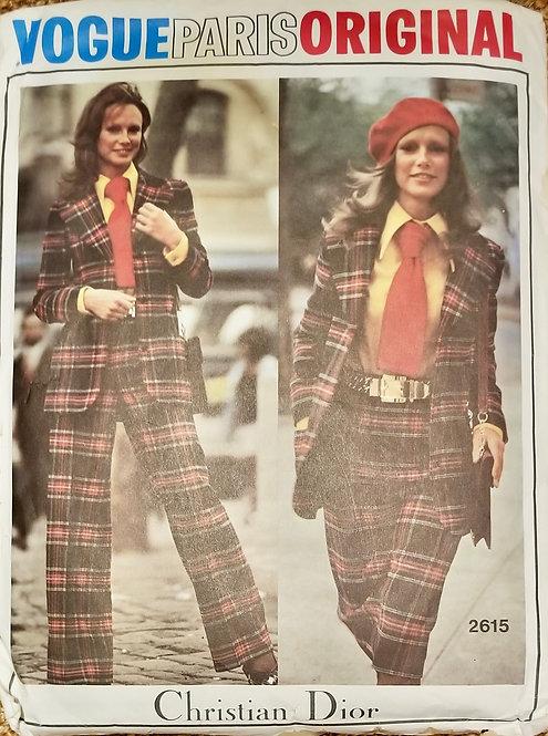 1971 Vogue Paris Original pant suit pattern, Dior #2615