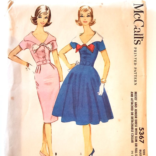 McCall's 5367 Dress - 1960