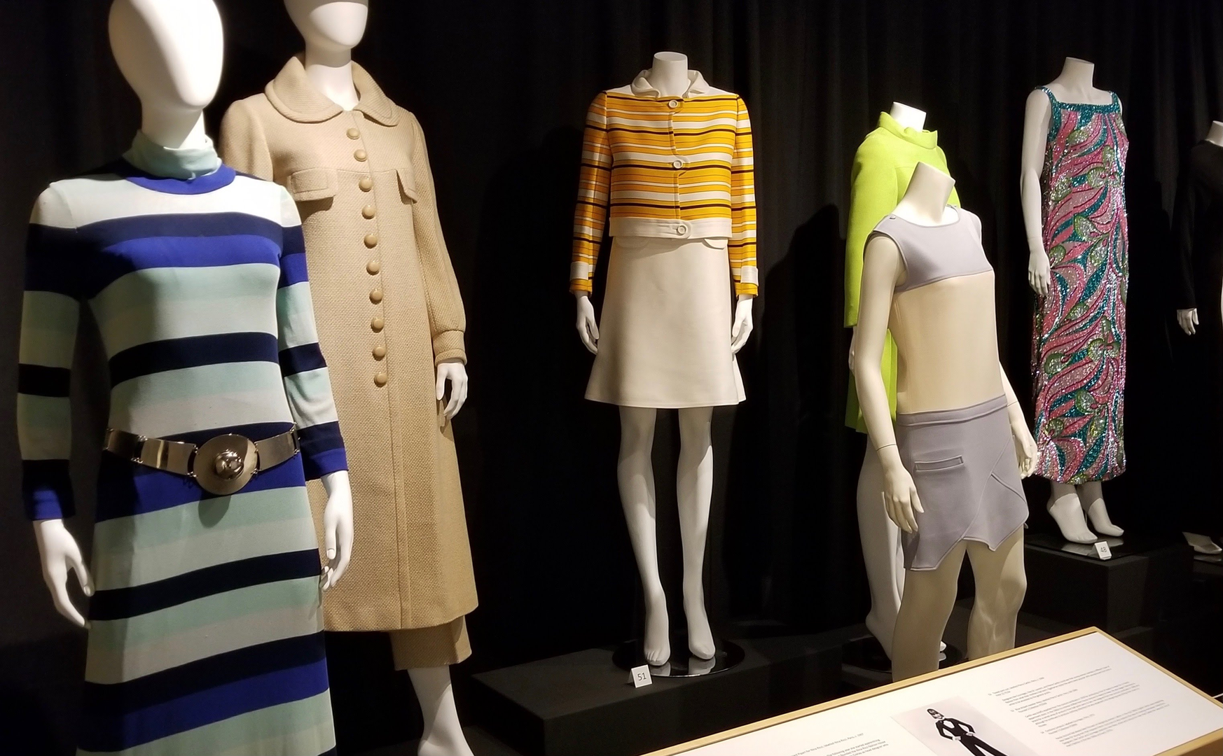 Late 60s fashions by Cardin, Ungaro, and Courreges