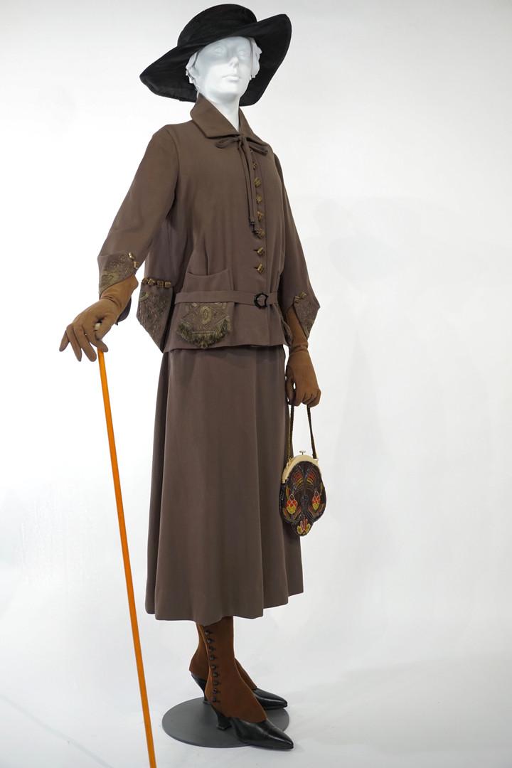 Brown Wool Suit retailed by Smallman and Ingram, c. 1919 – 1921, London, Ontario