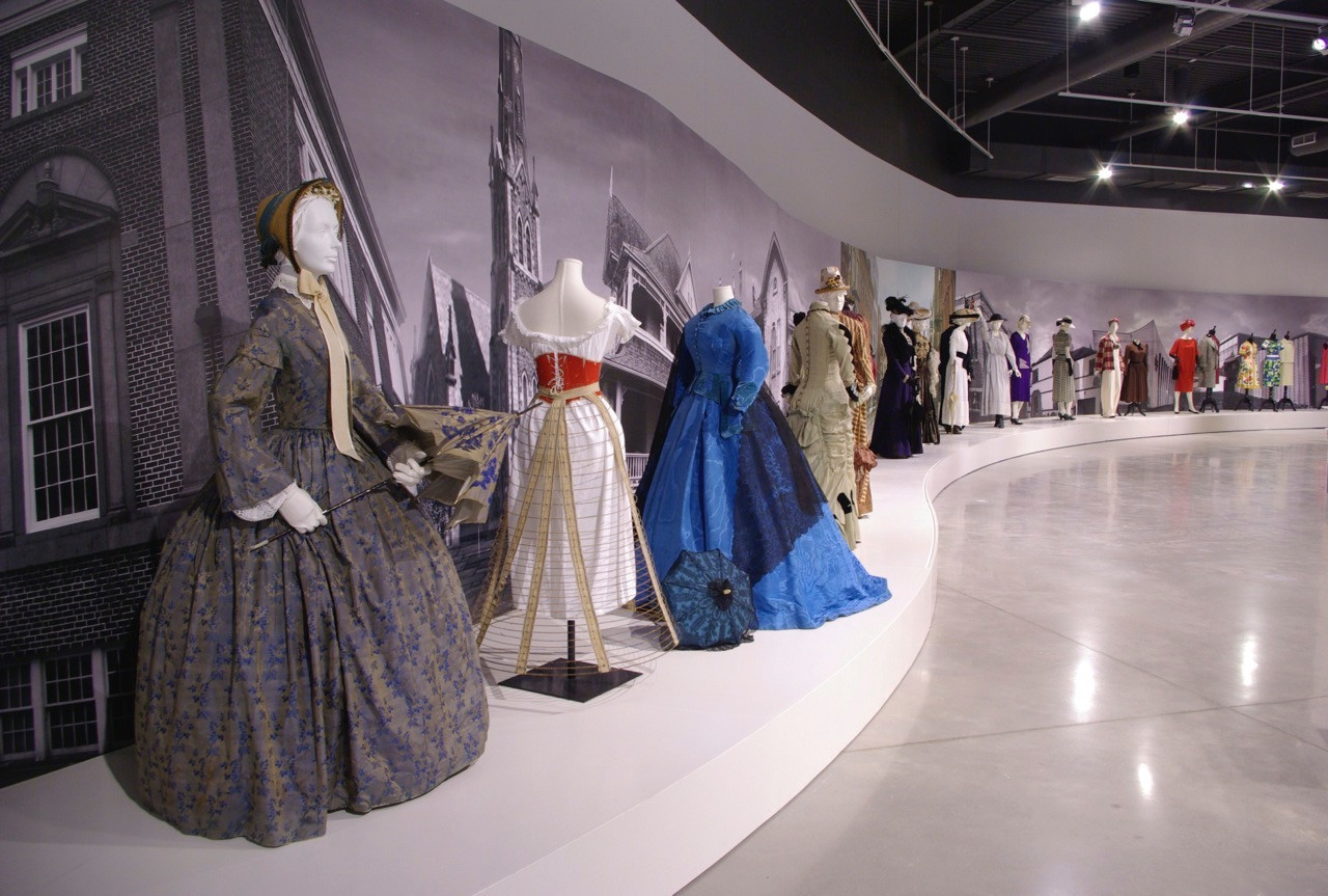 View of Street Style: Fashion and Architecture in Waterloo County 1853 - 1973, at the Waterloo Regional Museum, May 2014 - January 2015