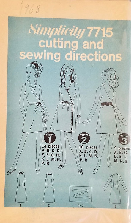 1968 Simplicity dress pattern #7715