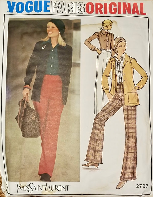 1972 Vogued Paris Yves Saint Laurent pattern #2727