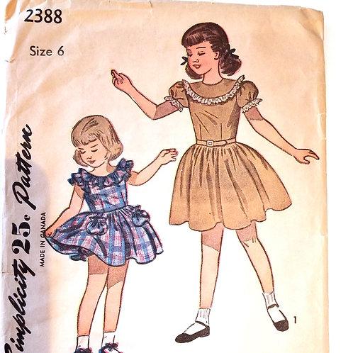 Simplicity #2388 girl's dress - 1948