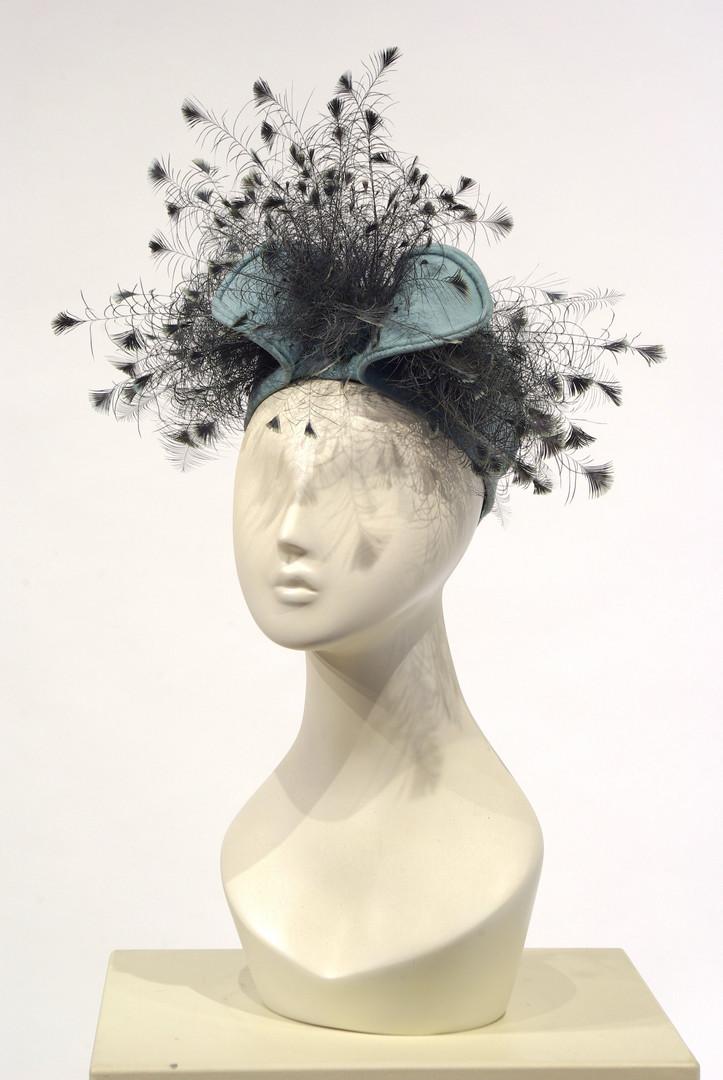 Goura Feather Trimmed Hat by Laddie Northridge, New York, c. 1958