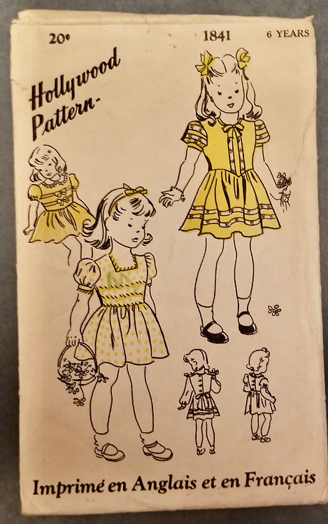 Early 1940s Hollywood Pattern #1841