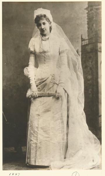 Photograph of Original Bride Wearing Dress, Chatham, 1887