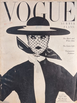 Vogue magazine, April 1, 1950 with cover photograph by Irving Penn.jpg