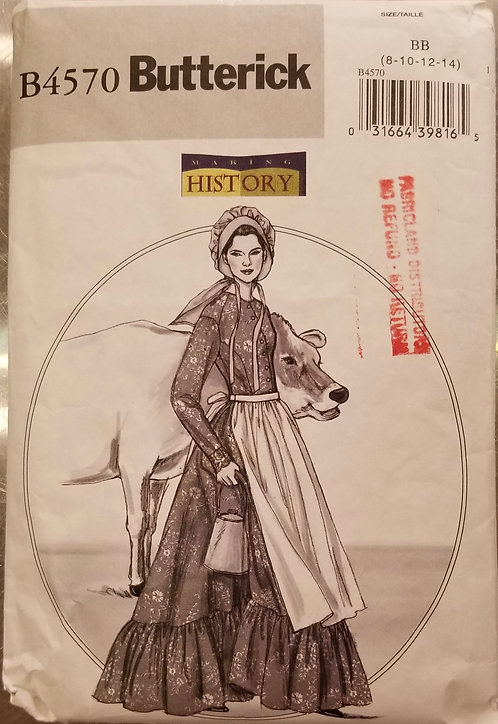 Colonial Butterick costume pattern #B4570
