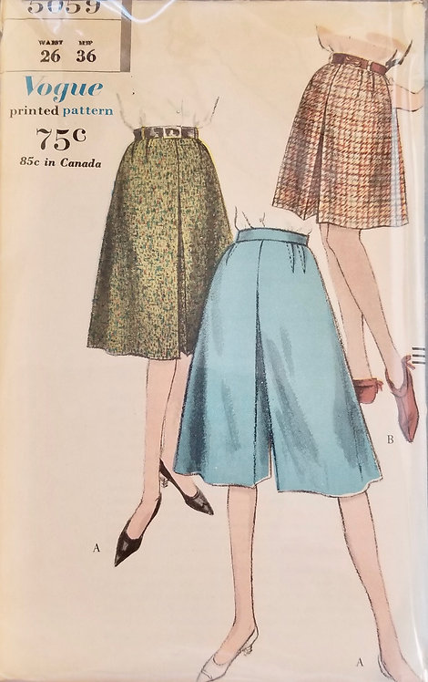 1960 Vogue pattern for divided skirt (skort) #5059