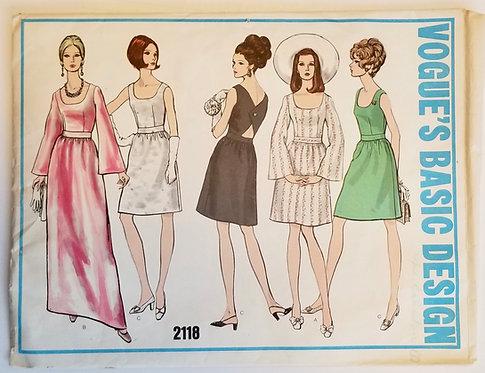 Late 1960s Vogues Basic Design #2118 dress pattern