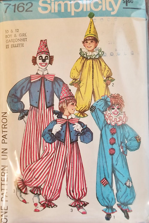 1976 Simplicity clown pattern #7162