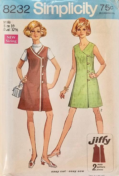 1969 Simplicity Jumper dress pattern #8232