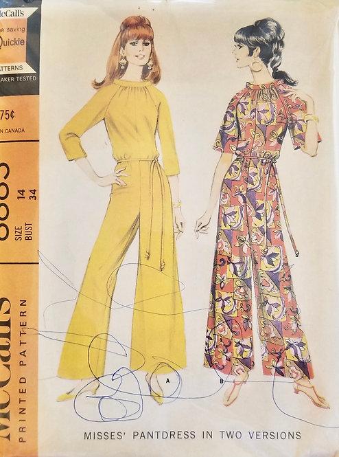 1967 McCall's pant-dress #8883