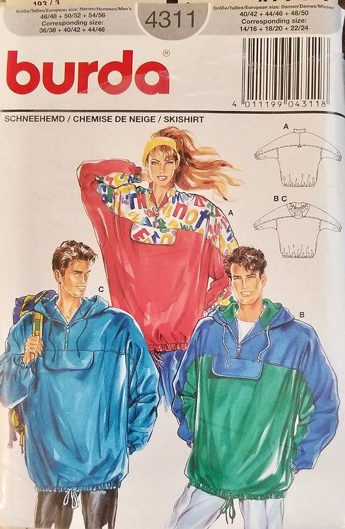 1993 Burda unisex ski shirt, #4311