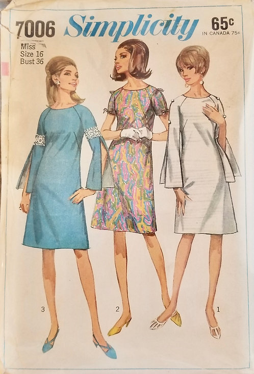 1967 Simplicity dress pattern #7006
