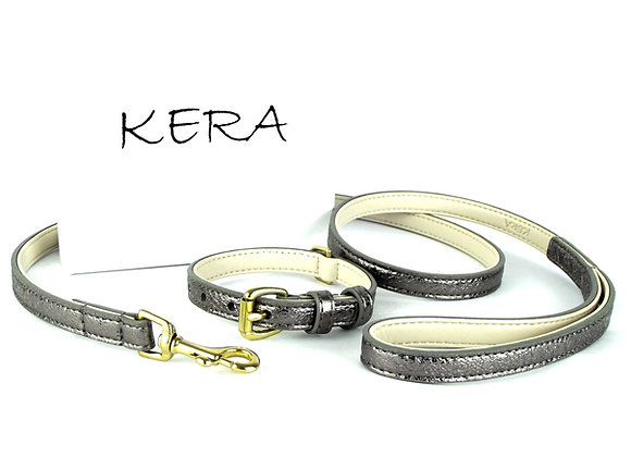 Glam Collar & Lead Set - Brown Sheepskin