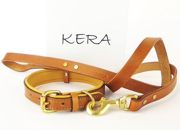 Kera Classic V2 Collar and Lead Set - Chestnut