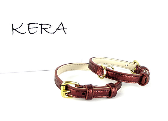 Glam Leather Collar by Kera - Red