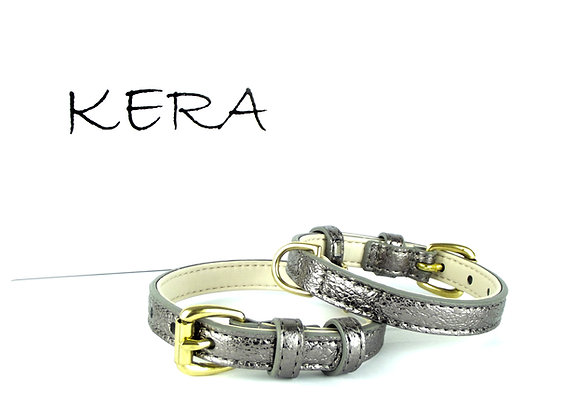 Glam Leather Collar by Kera -Brown
