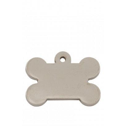 Chunky Bone Pet ID Tag (Silver)