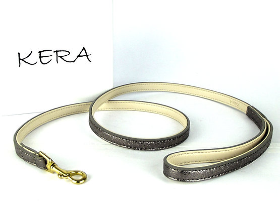 Glam Leather Lead by Kera - Brown