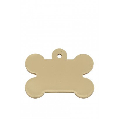 Chunky Bone Pet ID Tag (Gold)