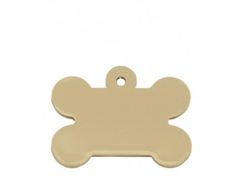 Chunky Bone Pet ID Tag (Gold)