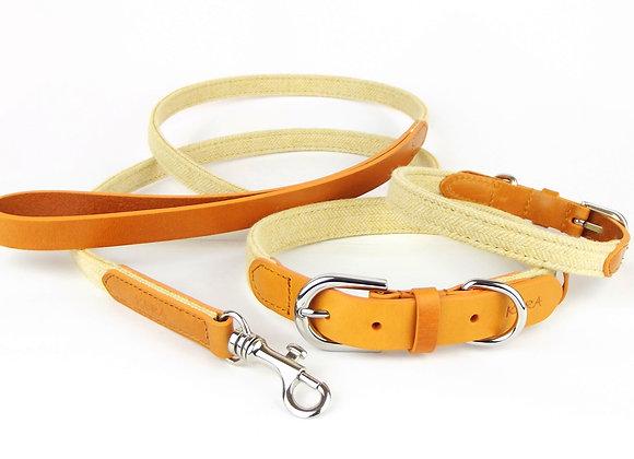Kera Tweed Collar & Lead Set - Yellow
