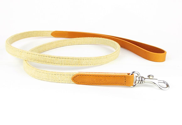 Kera Tweed Dog Lead - Amber