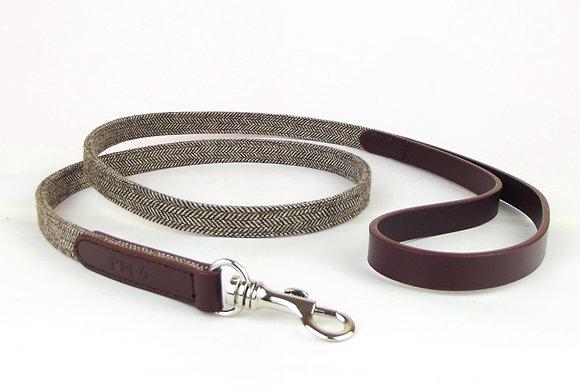 Kera Tweed Dog Lead - Dark Brown