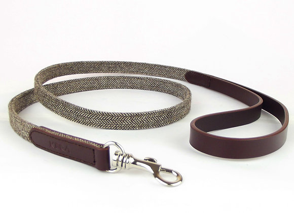 Kera Tweed Dog Lead - Dark Brown