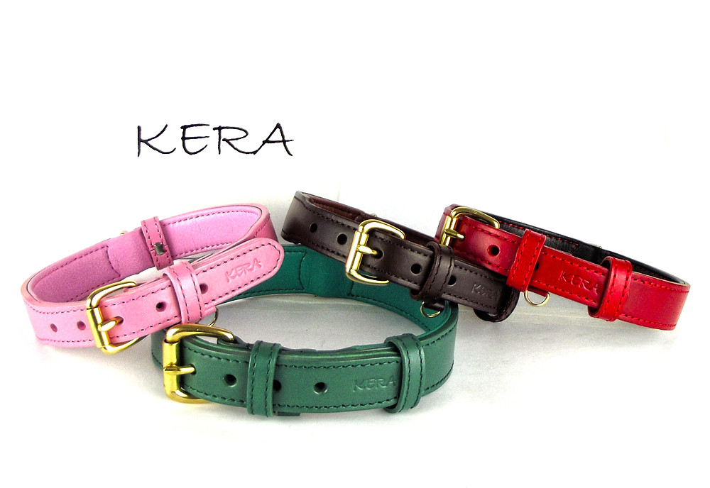 Luxury Leather Dog Collars by Kera Pets