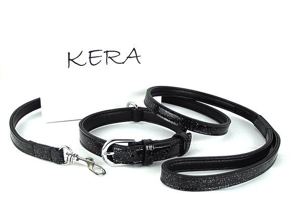 Glitz Collar and Lead Set - Black Glitter