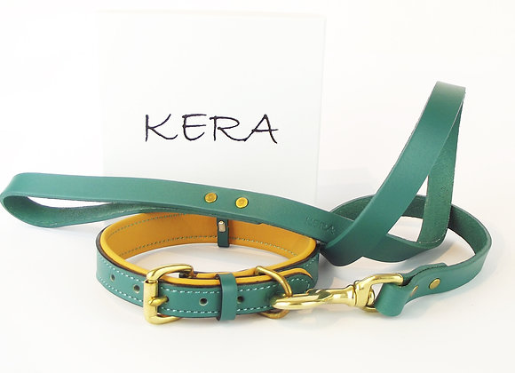 Kera Classic V2 Collar and Lead Set - Jade
