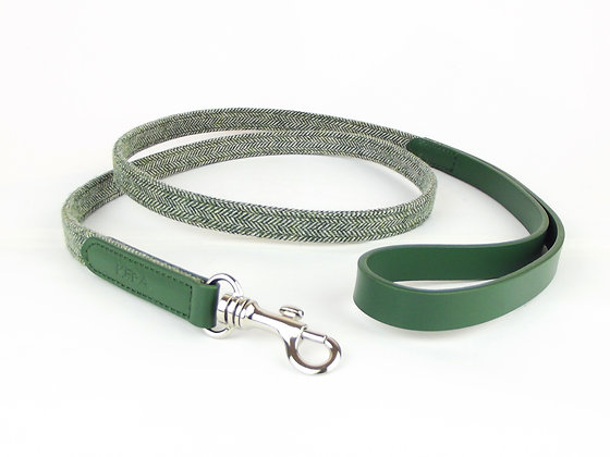 Kera Tweed Dog Lead - Green