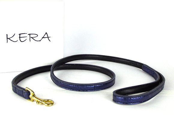 Glam Leather Lead by Kera - Blue