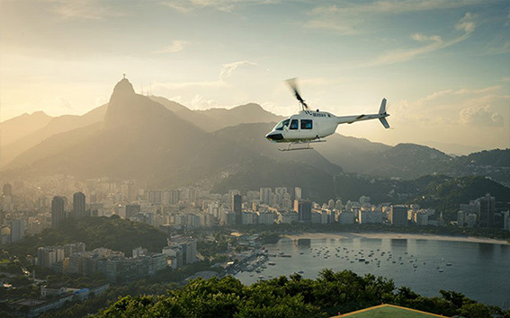 PANORAMIC HELICOPTER FLIGHT