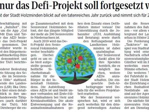 Nicht nur das Defi-Projekt soll fortgesetzt werden