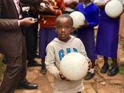 brosis school - sad child - soccer ball.
