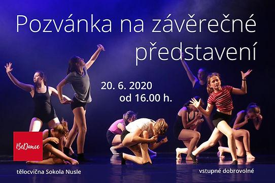 Závěrečné představení 20.6.2020 v tělocvičně Sokola Nusle