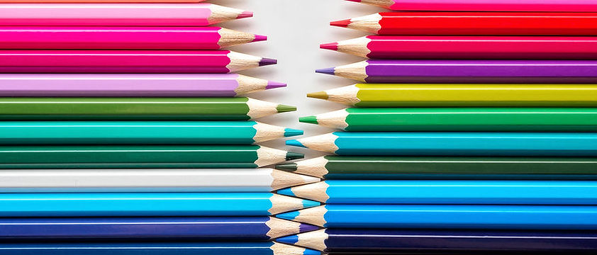 Colored pencils like a zipper - narrow.j
