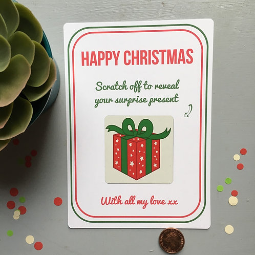 Christmas Surprise Reveal Scratchcard