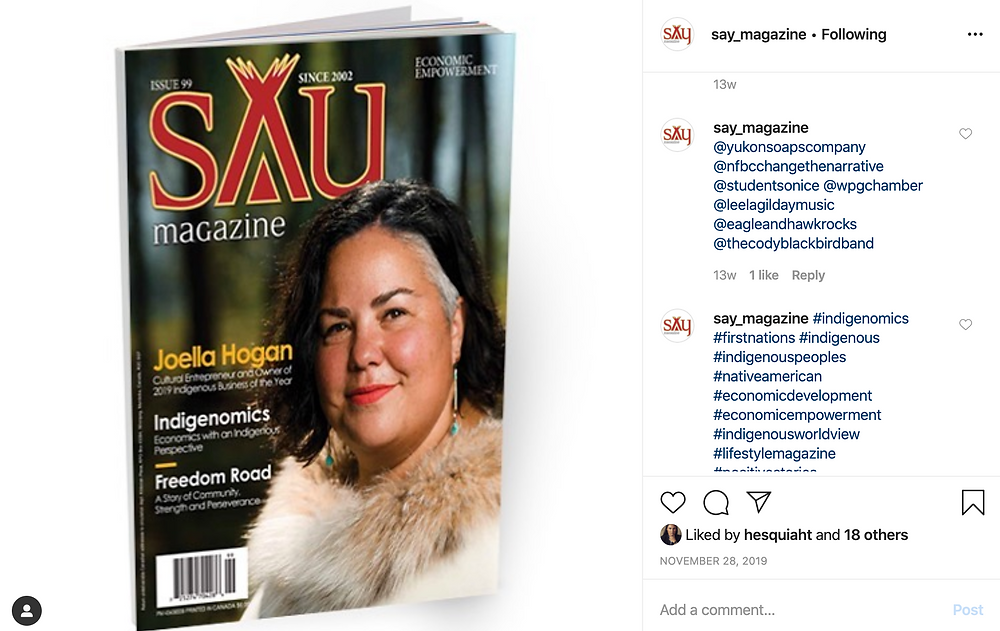 Say Magazine in #Indigenomics Hashtag Results