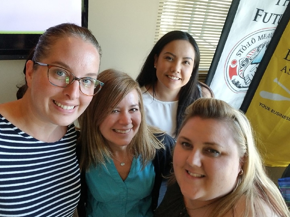 The girls of Sto:lo Nation in our Program Manager Training Course