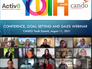 Activ8 Presents Career and Personal Growth Skills At CANDO Youth Summit