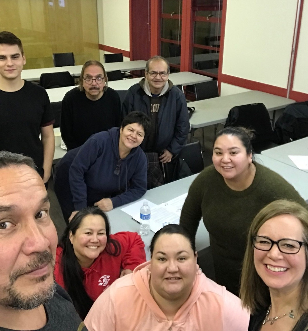Entrepreneurs from the Squamish Nation in March 2018 Sales Workshop