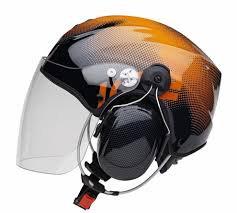 Casque Solar X noir et orange avec visière et headset Peltor x5