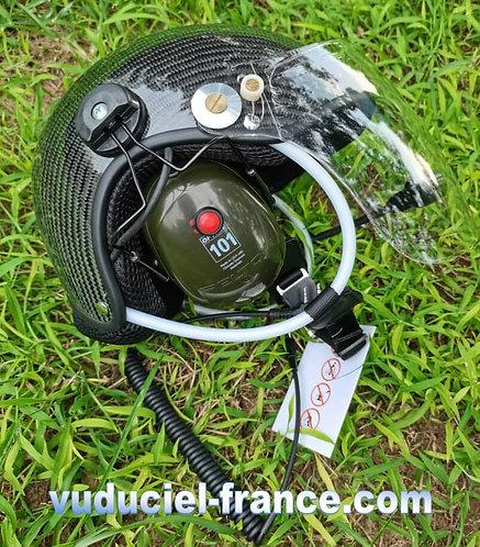 Casque ULM  VUDUCIEL CR-GD-C02  complet, avec prise radio