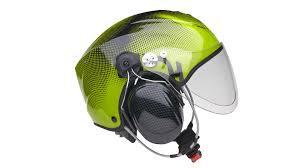Casque Solar X noir et vert avec visière et headset Peltor x5